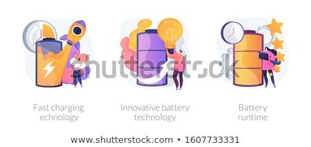 Innovatieve batterij technologie wetenschappers citroen zonne Stockfoto © RAStudio
