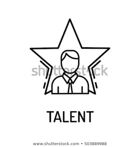 Stockfoto: Human Talent Icon Vector Illustration