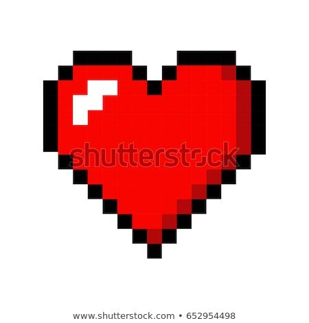 Pixel Art Heart. Love and Valentine. Vector Illustration. Stock photo © tashatuvango