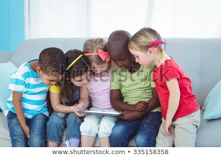フロント 表示 幸せ 白人 少年 デジタル ストックフォト © wavebreak_media