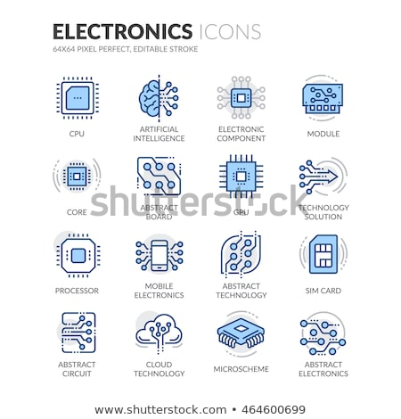 Artificial Intelligence Colorful Icons Stock photo © Anna_leni