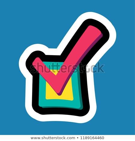 スタイリッシュ カラフル 漫画 ステッカー チェックボックス ビジネス ストックフォト © barsrsind