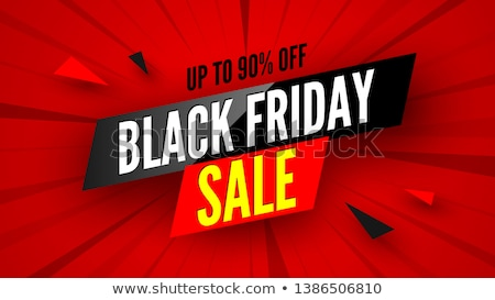 black friday sale promotional banner with stripe stock photo © robuart