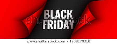 black friday sale background with red ribbon Stock photo © SArts