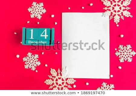 Calendario dicembre rosso bianco icona Foto d'archivio © Oakozhan