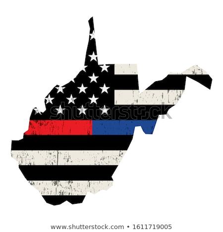 Nyugat-Virginia tűzoltó támogatás zászló illusztráció amerikai zászló Stock fotó © enterlinedesign