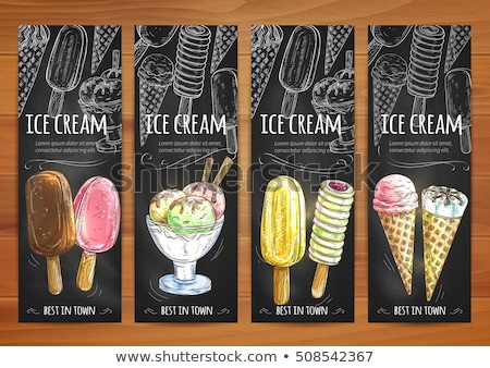 Assortment Frozen Ice Cream Set Posters Vector Stock photo © pikepicture