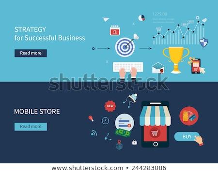 Concurrerend analyse business ontwikkeling strategie evaluatie Stockfoto © RAStudio