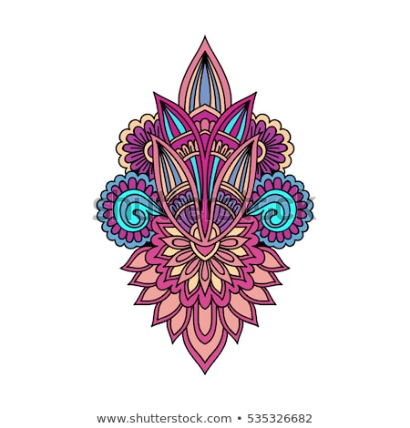 çiçek etnik Hint model simgeler Stok fotoğraf © anbuch