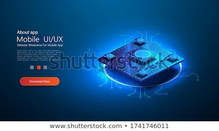 Renkli fütüristik işlemci cpu parlak teknoloji Stok fotoğraf © solarseven