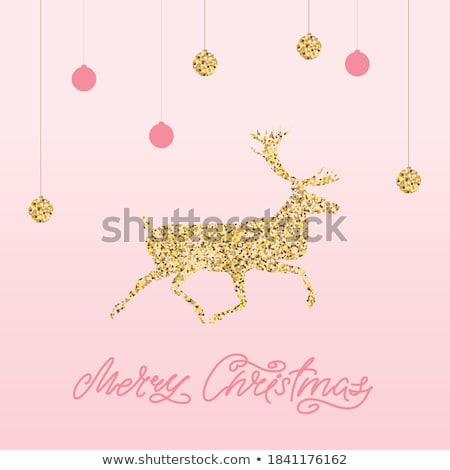 pink card with christmas balls eps 8 stock photo © beholdereye