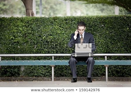 Business kantoor mensen technologie geslaagd zakenman Stockfoto © vkstudio