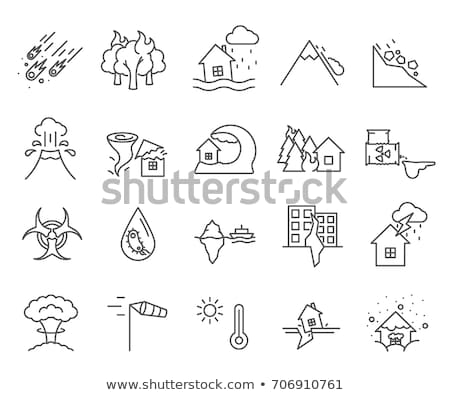 iceberg crash icon vector outline illustration Stock photo © pikepicture