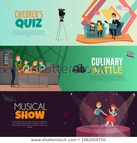 Studio Scene For Vocal Concert Or Tv Show Vector Stock photo © pikepicture