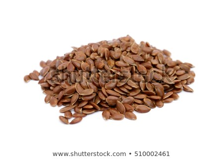Raw natural healthy organic linseed flax-seed. Omega 3 product.Macro Stock photo © DenisMArt