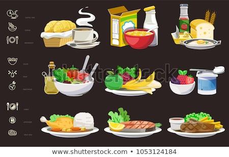 Colazione pranzo cena equilibrata menu giorno Foto d'archivio © furmanphoto