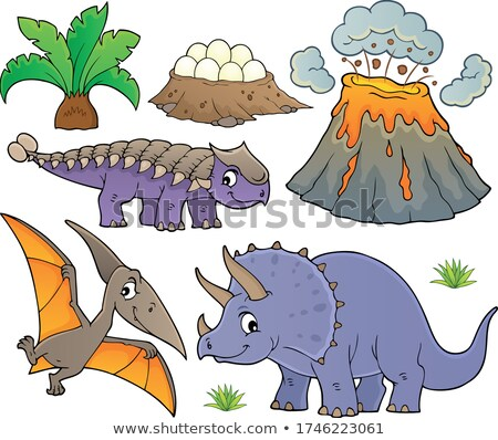 Dinosaur topic set 9 Stock photo © clairev