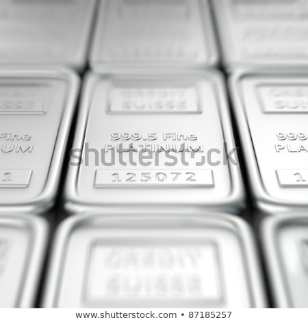 Platinum Ingot Pile  Stock photo © albund