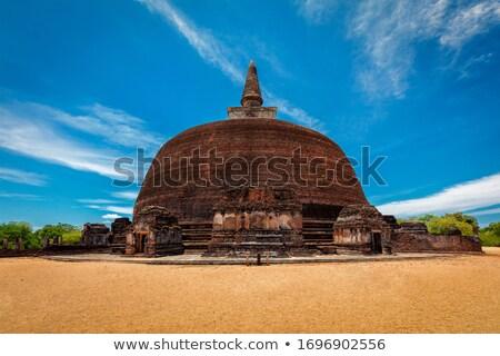 Buddhist dagoba, stupa in ancient city of Pollonaruwa Stock photo © dmitry_rukhlenko