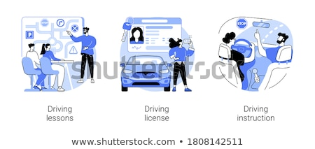Driving license abstract concept vector illustrations. Stock photo © RAStudio