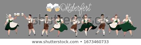 homem · oktoberfest · bem · sucedido · jovem · tradicional · traje - foto stock © fahrner
