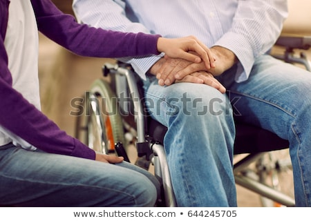 Old Disabled Grandfather In Wheelchair Stock photo © AndreyPopov