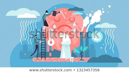 Klimawandel abstrakten Umwelt Aktivist Demonstration Erderwärmung Stock foto © RAStudio