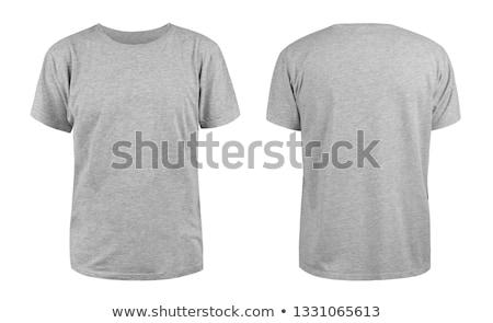 серый футболки рубашку изолированный белый моде Сток-фото © posterize