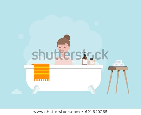 Warm bad douche gezondheid badkamer interieur Stockfoto © Lizard