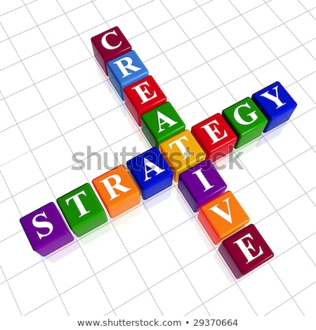color creative project like crossword Stock photo © marinini