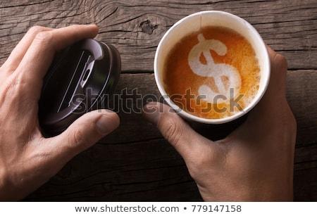 kahve · dolar · kahve · fincanı - stok fotoğraf © devon