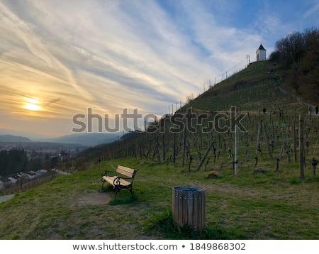 wooden chapel on autumn mountain top Stock photo © wildman