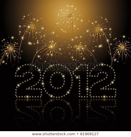 Golden New Year 2012  Stock photo © illustrart