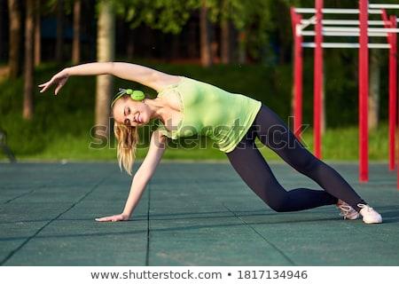 hispanos · mujer · yoga · ejercicio · retrato - foto stock © hasloo