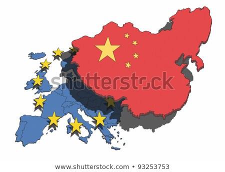 Çin · harita · dünya · pazar · güç - stok fotoğraf © alvinge