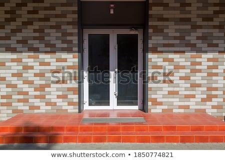 Rood tegel trappenhuis home zachte focus Stockfoto © bobkeenan