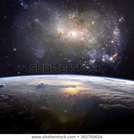 planet ground and clouds Stock photo © xedos45