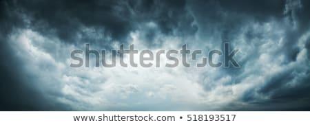 branco · nuvens · cinza · blue · sky - foto stock © petrmalyshev