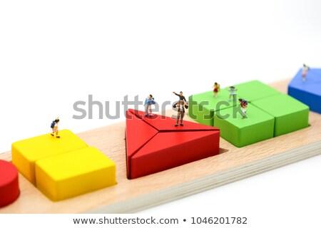 Colored construction toys, symbolizes success. stock photo © justinb