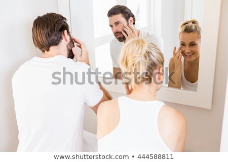 A couple getting ready for the day Stock photo © photography33