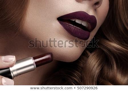 beleza · estilo · cara · tiro · ombro · retrato - foto stock © anna_om