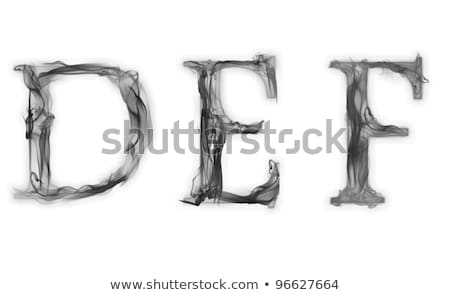 burning def letters burning alphabet stock photo © elmiko