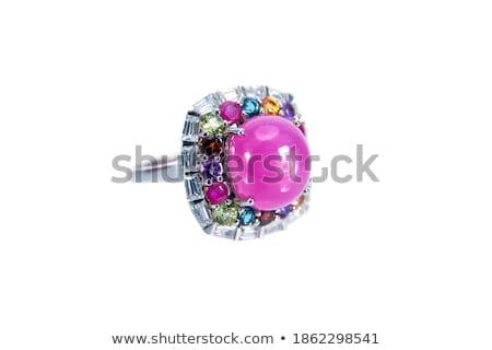 Különböző szín fényes drágakövek textúra divat Stock fotó © artjazz