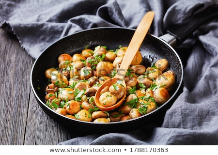 sauteed button mushtrooms Stock photo © zkruger