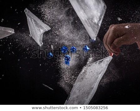 Kocka kifakult kéz piros játék Stock fotó © ozaiachin
