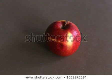 Fraîches jaune grand pomme isolé blanche Photo stock © boroda