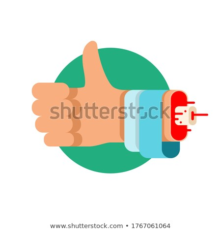 Bleeding thumb finger Stock photo © digitalr