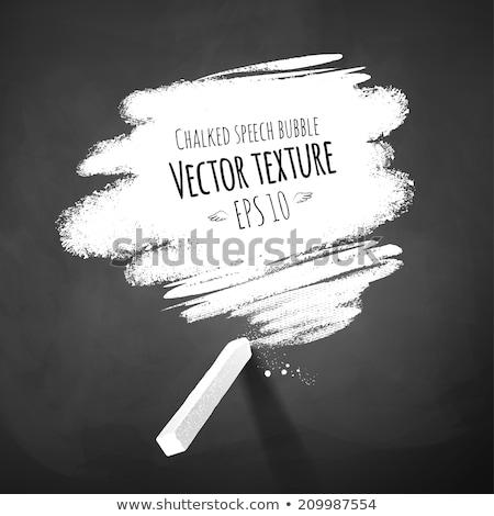 Blank speech bubble drawn on a smudged blackboard Stock photo © bbbar