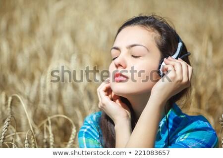 十代の少女 · 麦畑 · 黄色 · ファブリック · 自然 - ストックフォト © andreykr