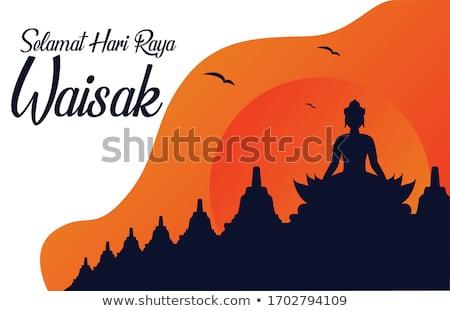 méditation · statue · buddha · mystique · lumière · fond - photo stock © ronen